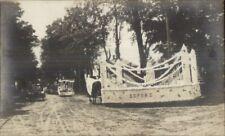 Newport ME Centennial Soper's Parade Float 1914 Real Photo Postcard