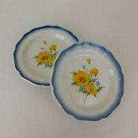 "Set of 2 Mikasa Amy Country Club Stoneware Salad Plate 8"" dia CA503 Japan Blue"