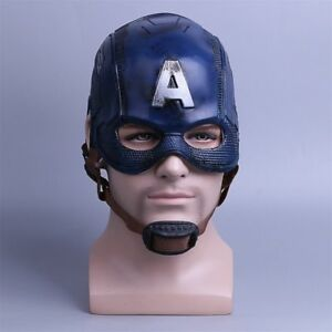 Captain America Mask Cosplay Avengers Infinity War Mask Halloween Latex Helmet