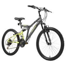 "Terrain 1024XT 24"" Unisex Mountain Bike Grey 18"" Steel Frame Dual Suspension"