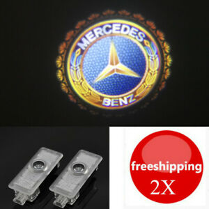 2X 3D LED Ghost Shadow Projector Laser Door Lights For Mercedes-Benz CLS CLA C E