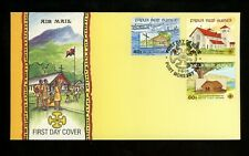 Postal History Papua New Guinea FDC #775-777 religion churches 1991