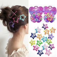 Lots 12PCS/Set Kids Barrettes Girls' BB Clip Candy Color Hair Clips Accessories