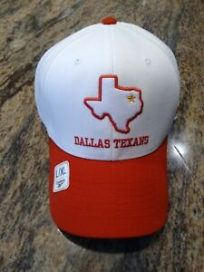 NFL Dallas Cowboys Retro Fitted Hat L/XL Throwback Dallas Texans White Flex Fit