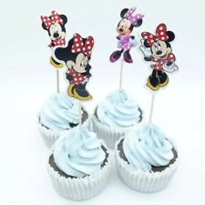 Minnie Mouse Cupcake Toppers / Picks X 24 Decorating Cup Cake Party Kids Shower