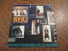 45 tours NEW KIDS ON THE BLOCK let's try it again