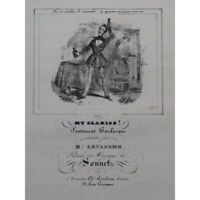 SONNET My Clariss! Chant Piano ca1840 partitura sheet music score