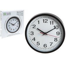 "10"" Novelty Backwards Wall Clock Battery Operated Anti Clockwise Round Clock"