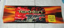 "original Tekken Tag Tournament Namco 25-7 1/2"" sign marquee Arcade Game cF89"