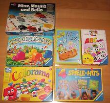 Tempo kleine Schnecke + Colorama + 4 Spiele-Hits (erste)+ ABC + Schuh Mix + Minz