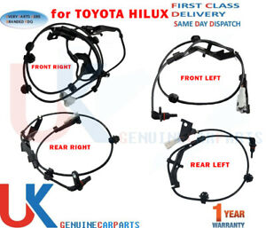 4X FRONT REAR ABS SPEED SENSOR FOR TOYOTA HILUX VIII PICKUP 2015-ON