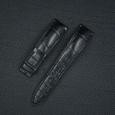 Jaeger-LeCoultre Uhrband 20mm Krokodil Watch Strap Black Alligator Leder
