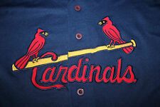 St Louis Cardinals Russell Athletics Men's Blue Jersey Size XL
