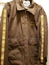Vintage UPS Employee Brown Driver Jacket United Parcel  - Uniform LG 42-44