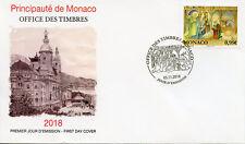 Monaco 2018 FDC Noel Christmas Nativity Birth of Christ 1v Cover Seasonal Stamps