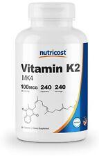 Nutricost Vitamin K2 (MK4) 100mcg, 240 Caps - Gluten Free and Non-GMO