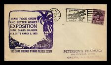 DR JIM STAMPS US MIAMI EXPOSITION EVENT COVER AIRPLANE PICTORIAL CANCEL 1933
