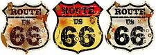 3xMini PREMIUM Autoaufkleber Route 66 USA Vintage Sticker Aufkleber Auto Styling