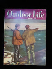 OUTDOOR LIFE Magazine Feb 1949 deer hunters, fishing, big game, Colorado Rockies