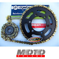 KIT TRASMISSIONE CATENA DUCATI MONSTER 600 620 ie 695 696 750 800 900 520H NERO