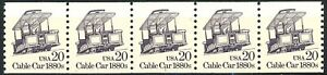 Cable Car 1880s Block Tagged Dull Gum MNH PNC5 Plate# 1 Scott's 2263 from 1988