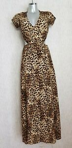 New Urban Outfitters Reformed Leopard Print Cut Out Dress Size S