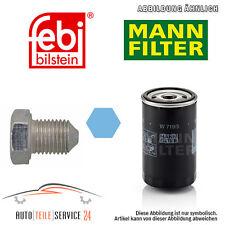 Mann Ölfilter Und Ölablass-Schraube Audi 80 B3 80 B4 90 B2 90 B3 Preisaktion