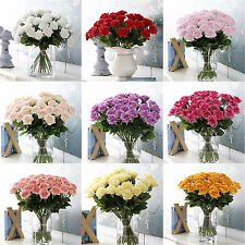 Be Artificial Silk Fake Rose Flowers Wedding Party Home Bouquet Decor 9 Colours