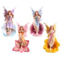 Set of 4 Flower Fairies Colourful Sparkle Garden Home Ornament Fairy Figurines