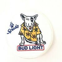 Vintage 70s Bud Light Embroidered Patch Sew On Iron On Spuds MacKenzie Rare!!