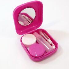 Kit custodia lenti contatto ROSA porta lentine+specchietto+pinzetta+applicatore