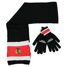 Chicago Blackhawks Scarf and Glove Gift Set