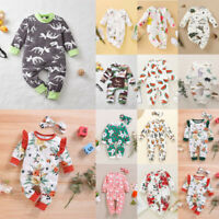 ⭐Newborn Infant Baby Boys Girls Floral Romper Jumpsuit Bodysuit Playsuit Outfit