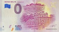 BILLET 0  EURO MDINA MALTA THE SILENT CITY MALTE  2019 NUMERO 0004