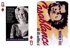 MARILYN MONROE CARTA DA GIOCO  PIATNIK SERIE MOVIE STARS PLAYING CARDS NUOVA