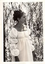 Photographic Print of Anais Nin Dressed in a Gown Under a Willow Tree