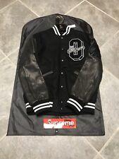 2017 OVO x Roots Varsity Jacket Black Cream Size Large Brand New Drake In Hand