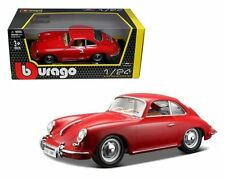 BBURAGO 1:24 W/B 1961 PORSCHE 356B COUPE DIECAST CAR 18-22079RD RED
