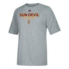 Arizona State Sun Devils NCAA Adidas Sideline Athletics Climalite Grey T-Shirt