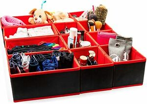Bedroom Drawer Tidy Draw Organiser Foldable Storage Boxes Fabric Dresser Divider