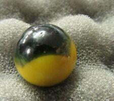 "Master Marble Comet Yellow & Black 19/32"" Goddess Jade Marbles"