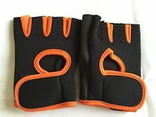 Antiskid Gym Bicycle Fitness Weight Lifting Training Workout Half Finger Gloves M Black