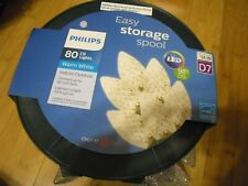 New Philips 80ct Christmas LED C9 Faceted String Lights Warm White Green Wire
