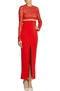 ALESSANDRA RICH Stretch Cady and Lace Dress