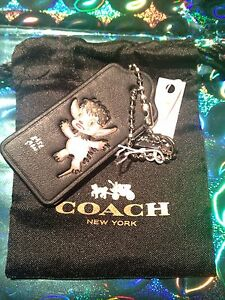 Collector's X Baseman COACH Pink Beastly Leather Hangtag NWT 64374