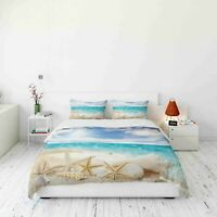 3D Starfish Sea Beach Quilt Cover Duvet Cover Comforter Cover Single/Queen/KIng