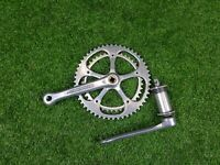STRONGLIGHT CHAINSET  VINTAGE Stronglight 5-arm Double crankset Model 107