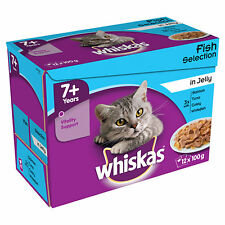 Whiskas Senior Pouch Multipack 12x100g Mixed Fish in Jelly