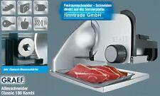 Graef CLASSIC 180 Kombi Allesschneider Edelstahl 170 mm + Diamant Messerschärfer