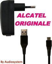 CARICA BATTERIE ORIGINALE ALCATEL+CAVO USB MICRO PER ONE TOUCH 918 206 255 POP